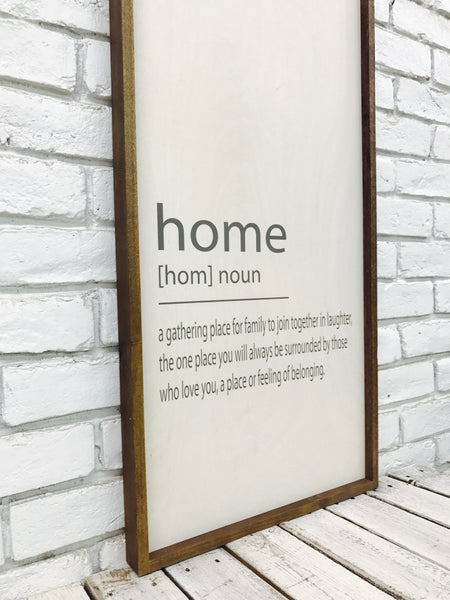 Home Noun Wood