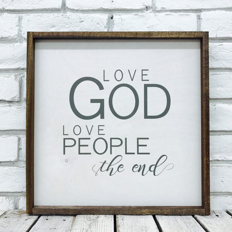 Love God Love People Wood