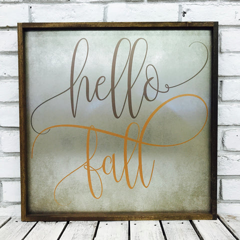 Hello Fall Tin
