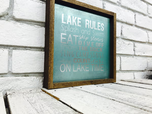Lake Rules Splish Splash TurqBG Tin