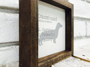 Daschund Dog Wooden Sign