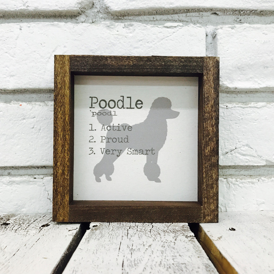 Poodle Dog Wooden Sign
