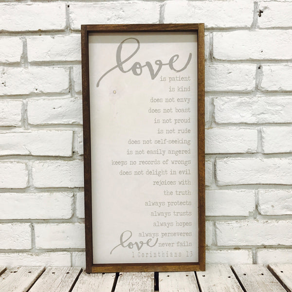 Love is Patient New Wood Sign