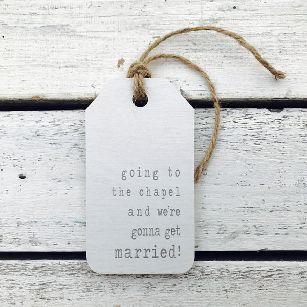 Going to the Chapel Wedding Gift Tag