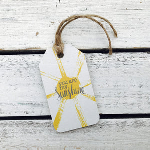 """You Are My Sunshine"" Gift Tag"