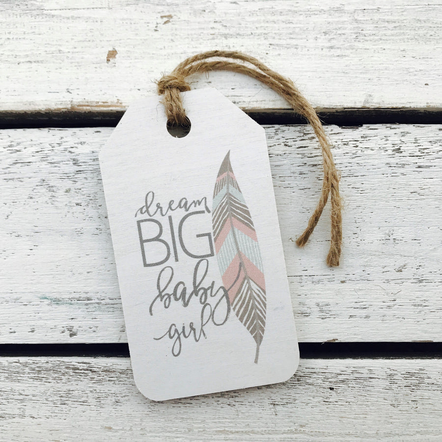 """Dream Big"" Gift Tag"