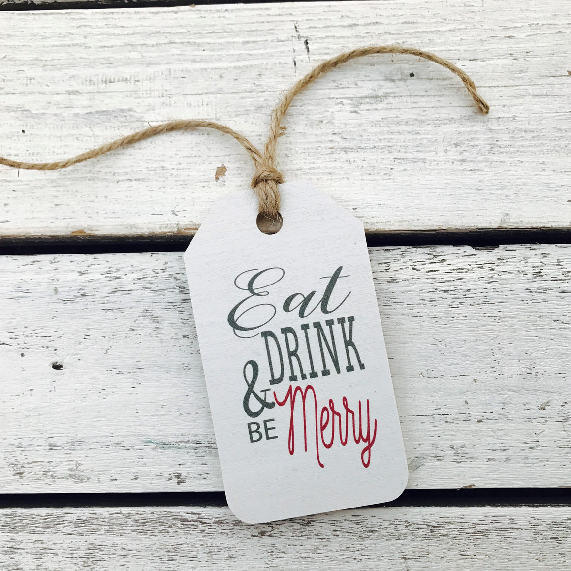 """Eat Drink and Be Merry"" Gift Tag"
