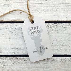 """Stay Wild and Free"" Gift Tag"