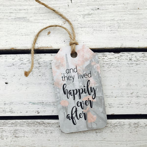 """Happily Ever After"" Eiffel Tower Gift Tag"