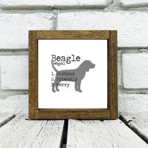 Beagle Dog Wooden Sign