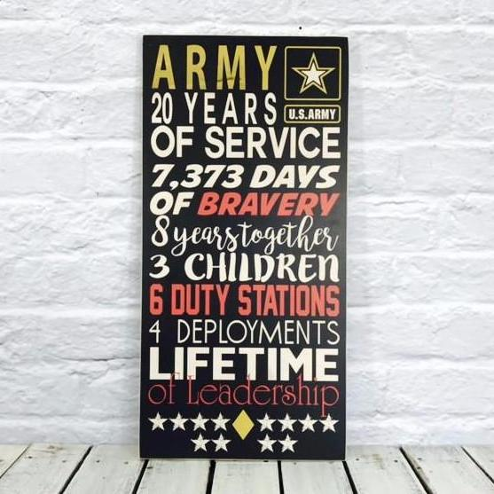 Top Personalized Wooden Soldier Sign For Military, Navy, Marines, Army  ZS41
