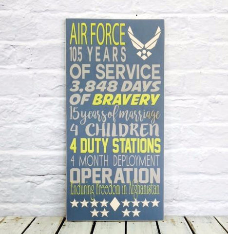 Military Retirement Gift Years Service, US Navy, Army, Navy, Marines, Air-Force