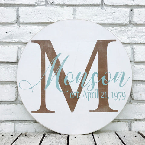 Brand-new Personalized Family Name Signs | Madi Kay Designs KG45