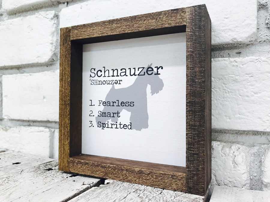Schnauzer Dog Wooden Sign