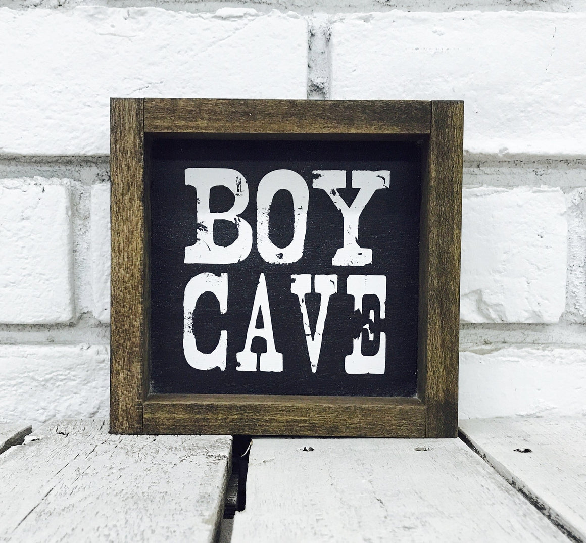 """Boy Cave"" Wooden Sign"