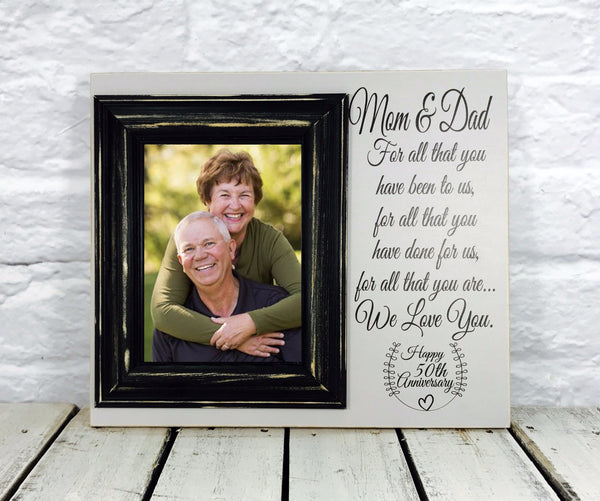 Mom and Dad Anniversary 50th Picture Frame Gift