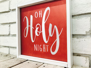 O Holy Night on Tin