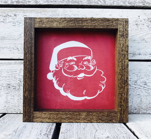 """Santa Face"" Wooden Farmhouse Sign"