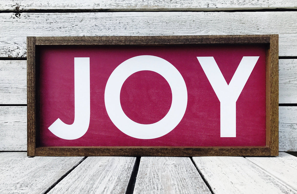 """JOY"" Wooden Christmas Sign"