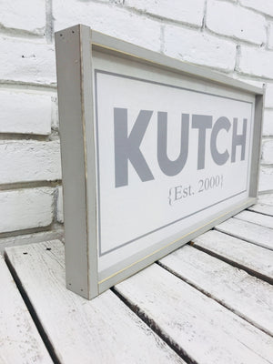 Personalized Family Name Framed Wooden Sign