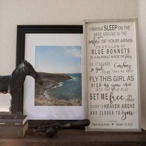 Wedding Song Lyric, Vows Wall Art on Wood