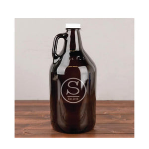 Personalized Engraved 64 oz. Glass Growler