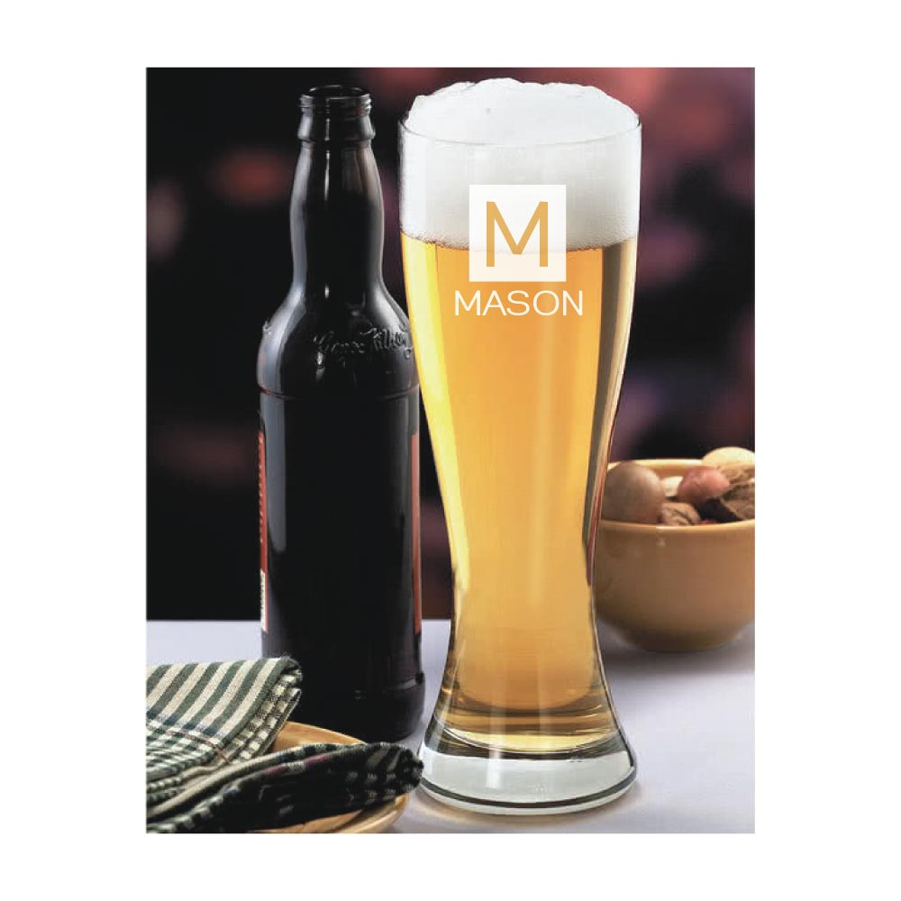 Personalized and Engraved Name Pilsner