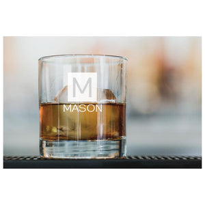 Personalized and Engraved Whiskey Glass with Name