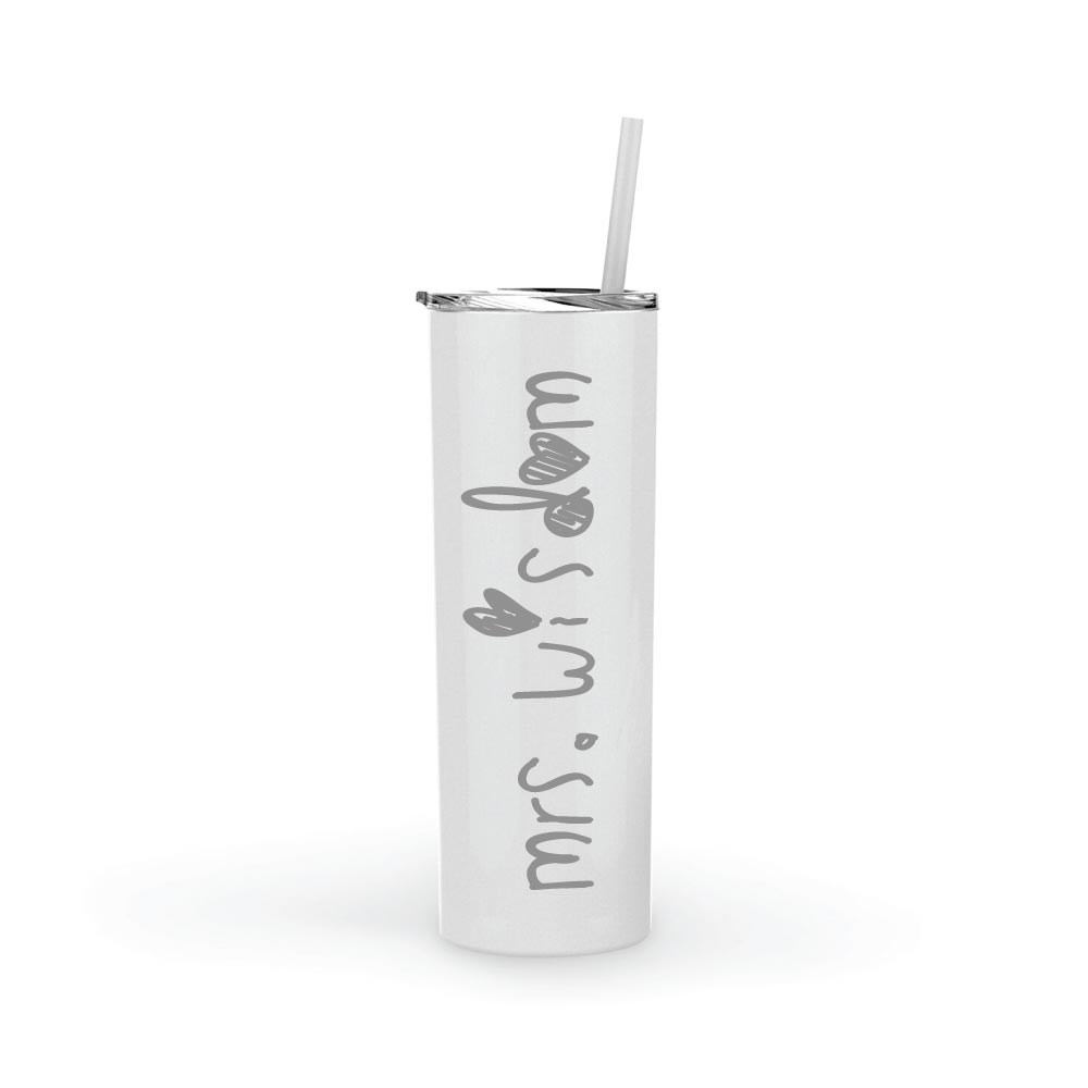 Personalized Elementary School Teacher Appreciation Gift Tumbler