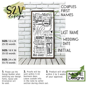 Personalized Wooden Family Name Sign on Tin or Wood