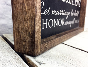"""We Still Do"" Personalized Anniversary Gift Sign on Wood with 1"" Walnut Frame"