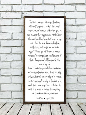 Wedding Song Lyrics Sign | Style V2V