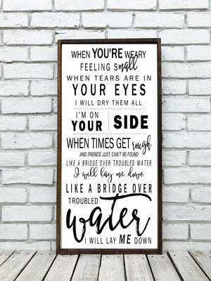 Wedding Song Lyrics Sign | Style V5
