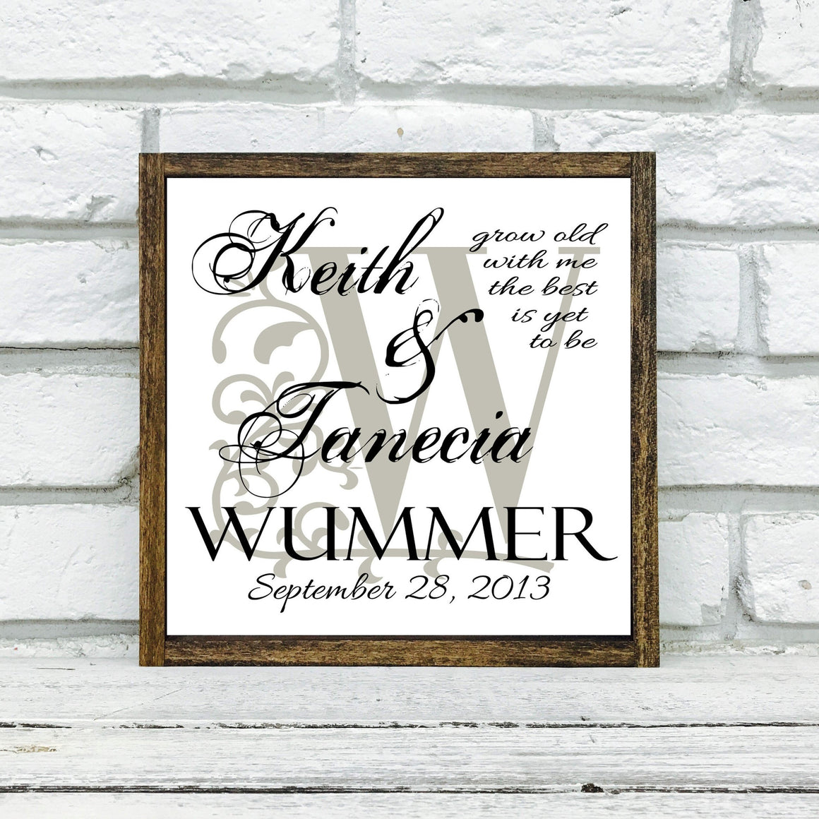 Personalized Wedding Last Name Sign gift for the couple