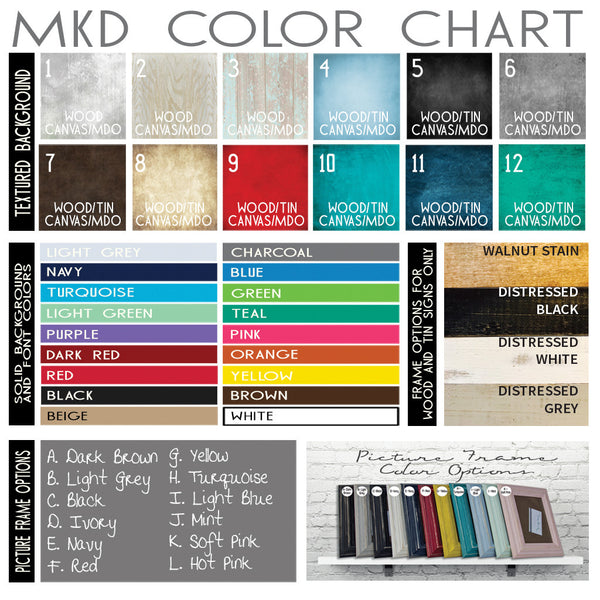 MKD Color Chart
