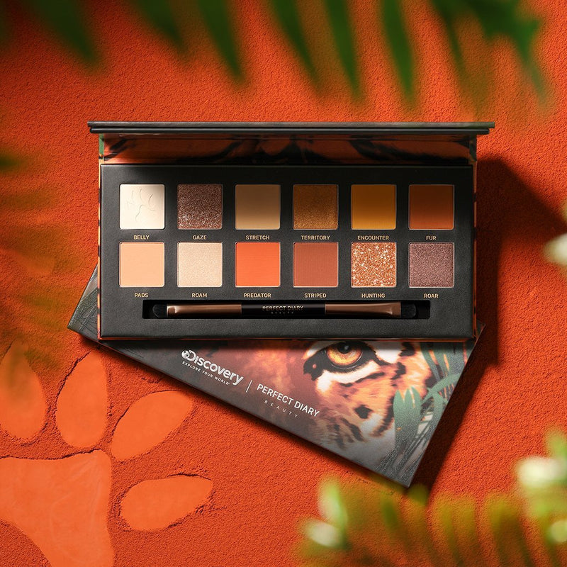 Explorer Eyeshadow Palette 02 Tiger - PerfectDiary Beauty