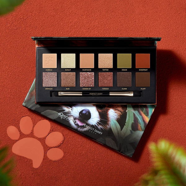 Explorer Eyeshadow Palette 05 Red Panda - PerfectDiary Beauty