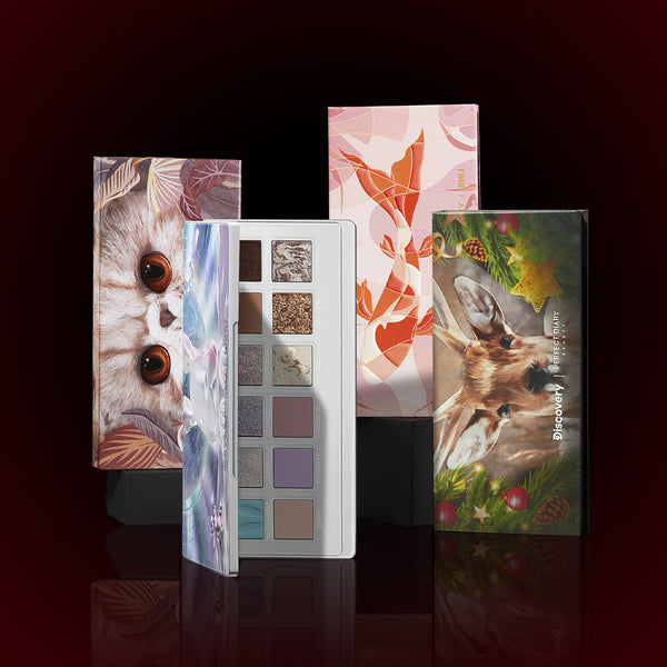 Perfect Diary Ultimate Royal Four Eyeshadow Palettes Gift Set (Set without box)08 Sika Deer+09 Cat+10 Fancy Carp+11 Jade Rabbit