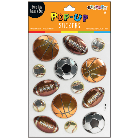 Sports Ball Pop up Stickers