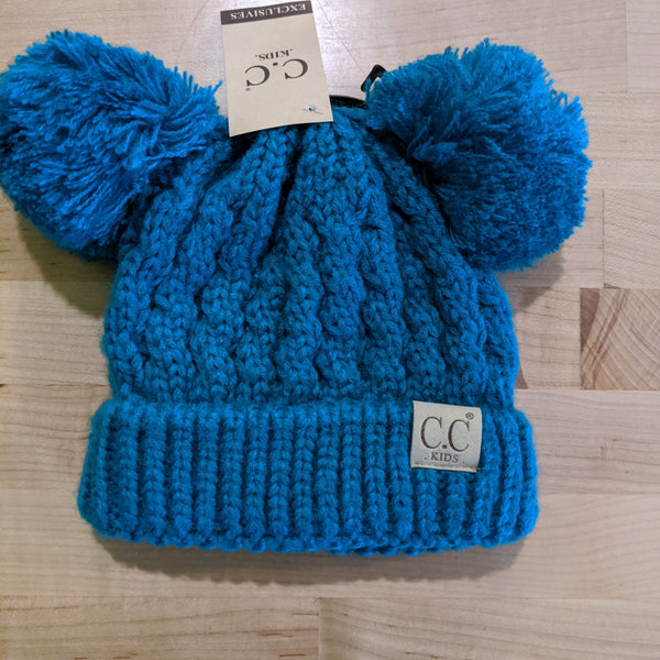 CC Unlined Double Pom Beanie