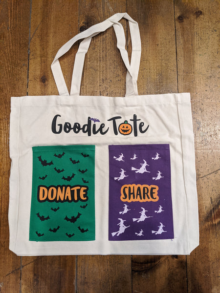 Canvas Halloween Candy Tote