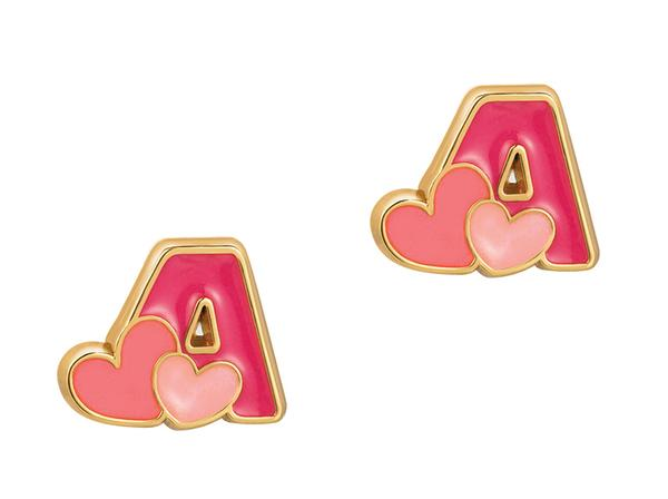 Cutie Initial Studs Earrings
