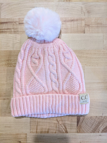 CC Lined Matching Pom Beanie