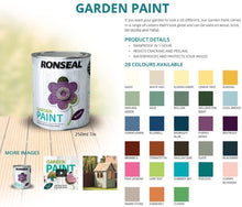 Load image into Gallery viewer, Ronseal Garden Paint - Options on Colours & Sizes
