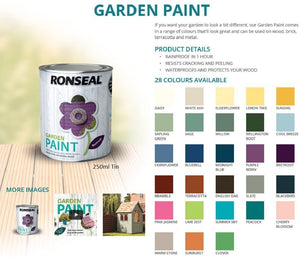 Ronseal Garden Paint - Options on Colours & Sizes
