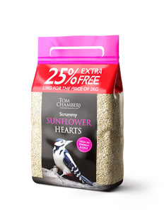 2kg + 25% EXTRA FREE Scrummy Sunflower Hearts