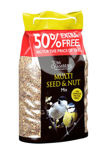 2kg + 50% EXTRA FREE Multi Seed & Nut Mix