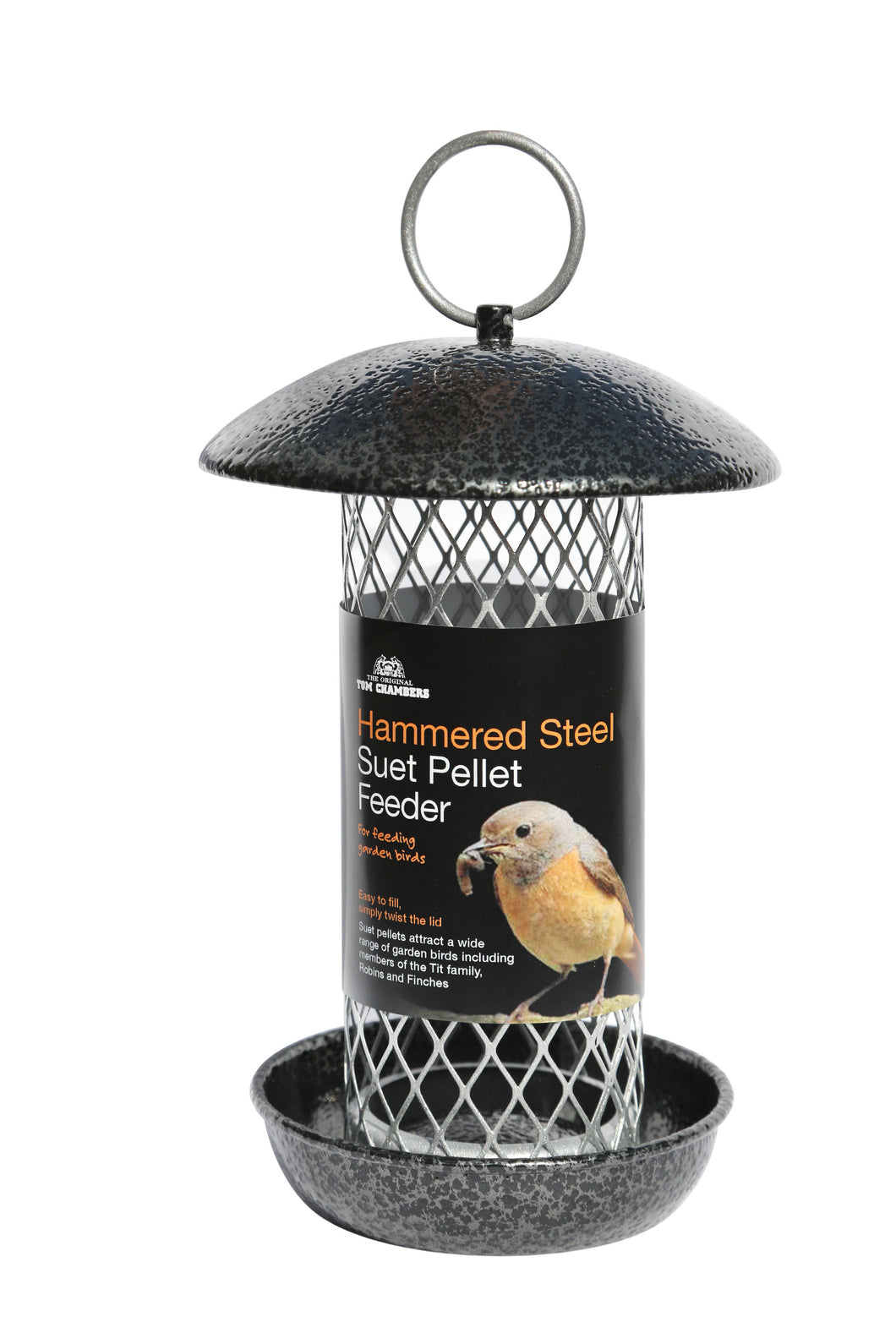 Hammered Steel Suet Pellet Feeder