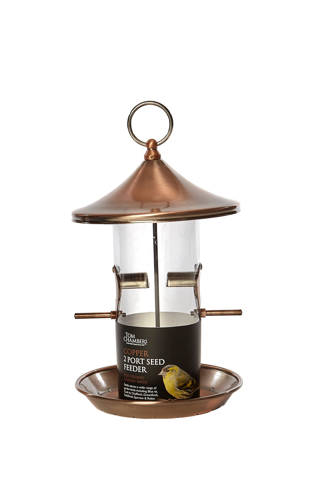 Copper 2 Port Seed Feeder
