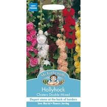 HOLLYHOCK Chaters Double Mixed - Seeds